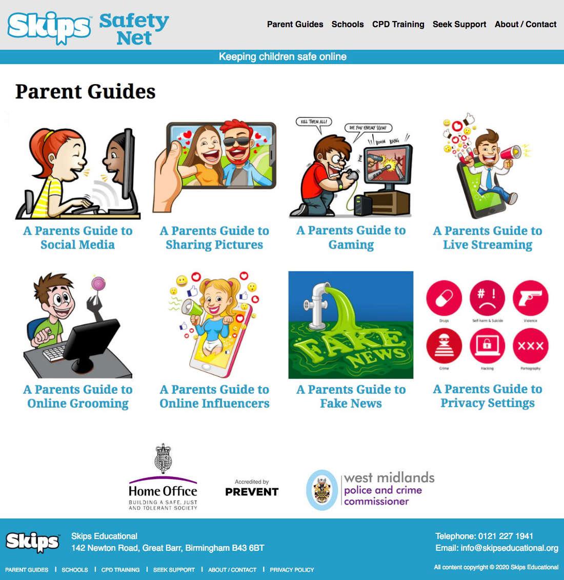 skips safety net website